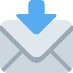 Envelope With Downwards Arrow Above twitter emoji