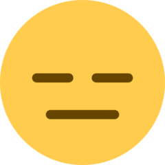 Expressionless Face twitter emoji