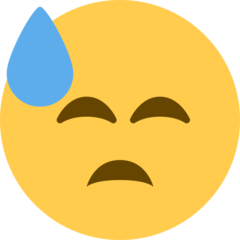 Face With Cold Sweat twitter emoji