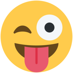 Face With Stuck-out Tongue And Winking Eye twitter emoji