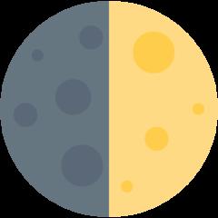 First Quarter Moon Symbol twitter emoji