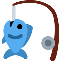 Fishing Pole And Fish twitter emoji