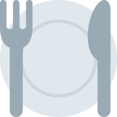 Fork And Knife With Plate twitter emoji