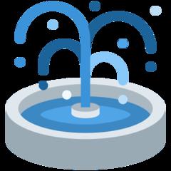 Fountain twitter emoji