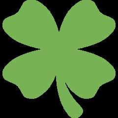 Four Leaf Clover twitter emoji