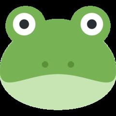 Frog Face twitter emoji
