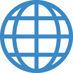 Globe With Meridians twitter emoji