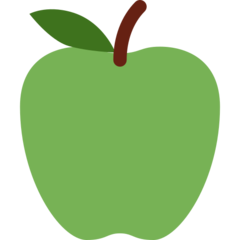 Green Apple twitter emoji