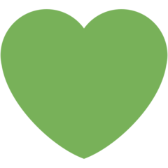 Green Heart twitter emoji