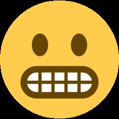 Grimacing Face twitter emoji