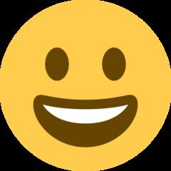 Grinning Face twitter emoji