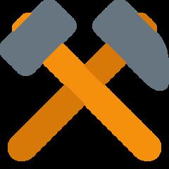 Hammer And Pick twitter emoji