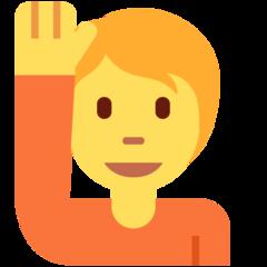 Happy Person Raising One Hand twitter emoji