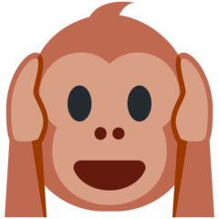 Hear-no-evil Monkey twitter emoji