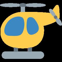 Helicopter twitter emoji