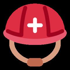 Helmet With White Cross twitter emoji