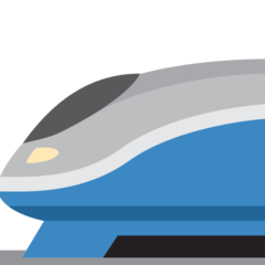 High-speed Train twitter emoji