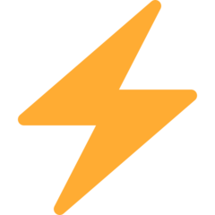 High Voltage Sign twitter emoji