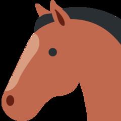 Horse Face twitter emoji