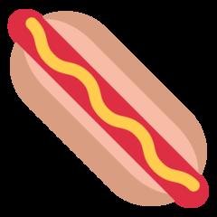 Hot Dog twitter emoji