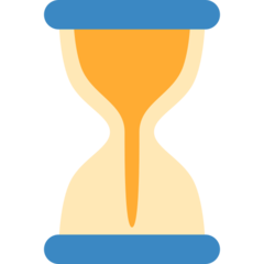Hourglass With Flowing Sand twitter emoji