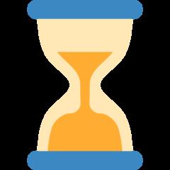 Hourglass twitter emoji