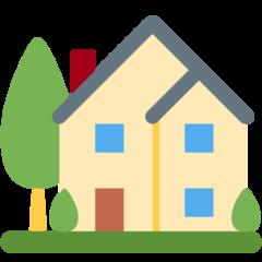 House With Garden twitter emoji