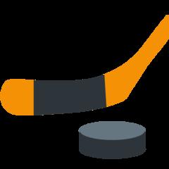 Ice Hockey Stick And Puck twitter emoji