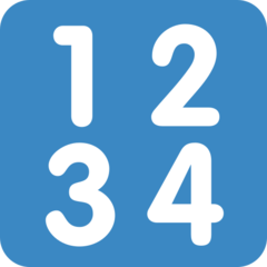 Input Symbol For Numbers twitter emoji