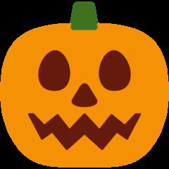 Jack-o-lantern twitter emoji