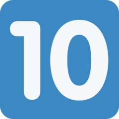 Keycap Ten twitter emoji