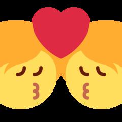 Kiss twitter emoji