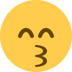 Kissing Face With Smiling Eyes twitter emoji
