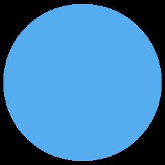 Large Blue Circle twitter emoji