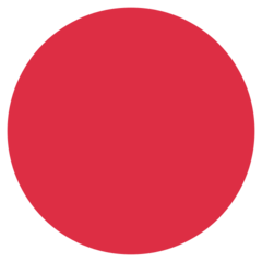 Large Red Circle twitter emoji