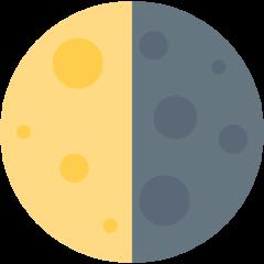 Last Quarter Moon Symbol twitter emoji