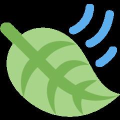 Leaf Fluttering In Wind twitter emoji