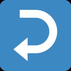 Leftwards Arrow With Hook twitter emoji