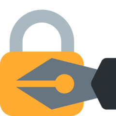 Lock With Ink Pen twitter emoji
