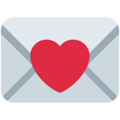 Love Letter twitter emoji
