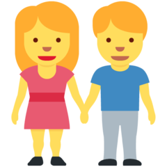 Man And Woman Holding Hands twitter emoji