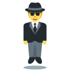 Man In Business Suit Levitating twitter emoji