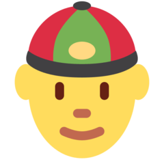 Man With Gua Pi Mao twitter emoji