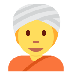 Man With Turban twitter emoji