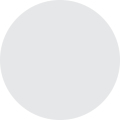 Medium White Circle twitter emoji