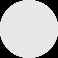 Medium White Circle twitter emoji