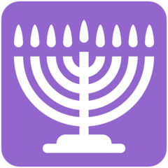 Menorah With Nine Branches twitter emoji