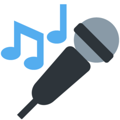 Microphone twitter emoji