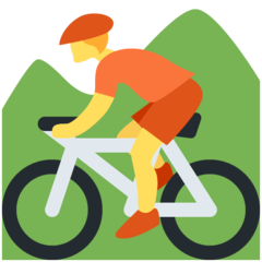 Mountain Bicyclist twitter emoji