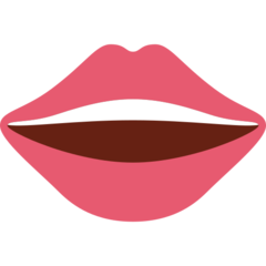 Mouth twitter emoji